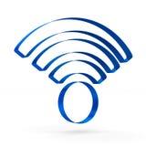 在白色背景的标志Wi-Fi 查出的3D 免版税库存图片