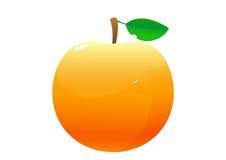 在白色背景的桃子动画片 库存照片