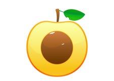 在白色背景的桃子动画片 免版税库存照片