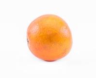 在白色背景的桔子-正面图 免版税库存照片