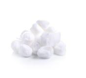 在白色背景的棉绒 免版税库存图片