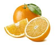 在白色背景的橙色果汁构成 免版税库存照片