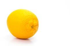 在白色背景的橙色茶点 库存照片