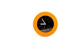 在白色背景的橙色警报 免版税库存图片