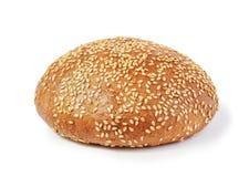 在白色背景的汉堡包小圆面包 图库摄影