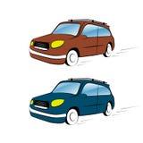 在白色背景的汽车例证 免版税图库摄影