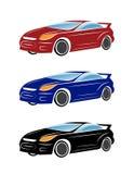 在白色背景的汽车例证 免版税库存图片