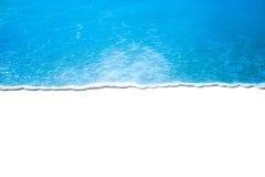 在白色背景的波浪 库存图片