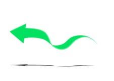 在白色背景的浅绿色的箭头 免版税库存图片