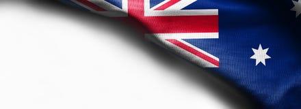 在白色背景的澳大利亚旗子 免版税库存图片