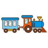 在白色背景的火车 向量 库存例证