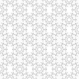 在白色背景的灰色几何无缝的样式 库存照片