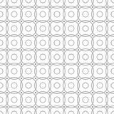 在白色背景的灰色几何无缝的样式 免版税库存图片
