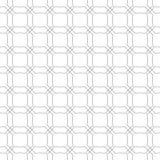在白色背景的灰色几何装饰品 无缝的模式 库存照片