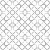 在白色背景的灰色几何装饰品 无缝的模式 库存图片