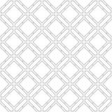 在白色背景的灰色几何装饰品 无缝的模式 免版税库存照片