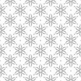 在白色背景的灰色无缝的样式 免版税库存图片