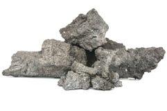 在白色背景的焦炭团 免版税库存照片