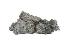 在白色背景的焦炭团 库存照片