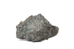 在白色背景的焦炭煤炭 图库摄影
