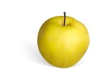照片拟真的金黄苹果传染媒介在白色背景的 库存图片