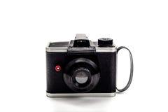 在白色背景的照相机1950年葡萄酒 图库摄影