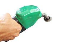 在白色背景的燃料喷嘴 免版税库存照片