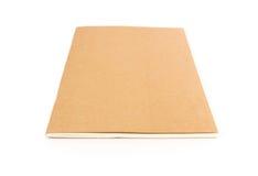 在白色背景的特写镜头棕色笔记本颜色 库存图片