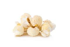 在白色背景的玉米花 免版税库存照片