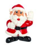 在白色背景的玩具圣诞老人 免版税库存图片