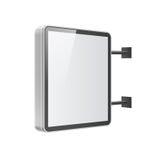 在白色背景的现实灯箱模板 免版税库存照片