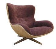 在白色背景的现代伟大的扶手椅子 免版税库存图片