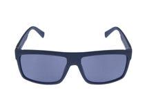 在白色背景的现代时尚太阳镜 免版税图库摄影