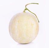 在白色背景的甜瓜瓜 图库摄影