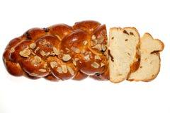 在白色背景的甜面包 免版税库存照片