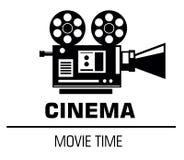 在白色背景的电影时间商标 皇族释放例证