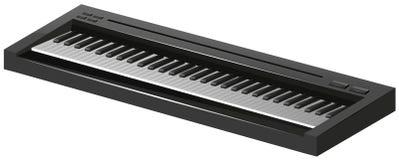在白色背景的电钢琴 库存例证