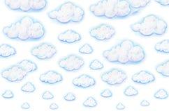 在白色背景的白色云彩 库存图片