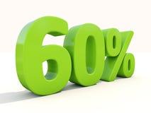60%在白色背景的百分率象 库存照片