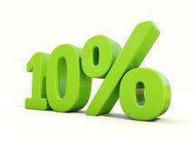 10%在白色背景的百分率象 免版税图库摄影