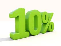 10%在白色背景的百分率象 免版税库存照片