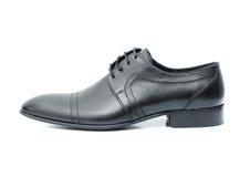 在白色背景的皮鞋 库存照片