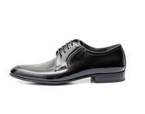 在白色背景的皮鞋 免版税库存照片