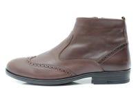 在白色背景的皮鞋 免版税图库摄影
