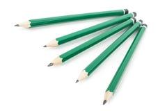 在白色背景的石墨铅笔 库存图片