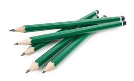 在白色背景的石墨铅笔 免版税库存照片