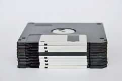 在白色背景的磁盘 库存照片