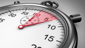 在白色背景的秒表时间 皇族释放例证