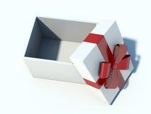 在白色背景的空白的礼物 免版税库存照片