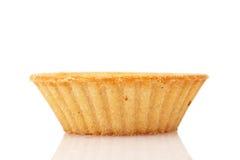 在白色背景的空的果子馅饼 免版税图库摄影